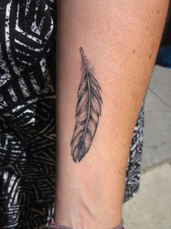 healed custom feather